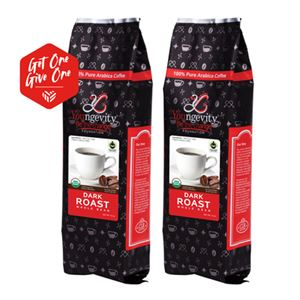 Picture of Be The Change Coffee - Fair Trade Organic Dark Roast - Whole Bean (12oz) [QTY: 2; Give One Get One FREE]